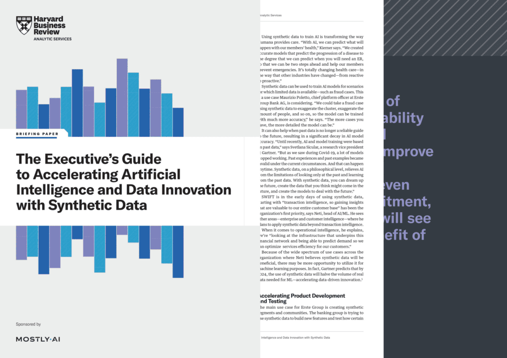 REPORT: Executives must utilize synthetic data to meet their AI and analytics challenges