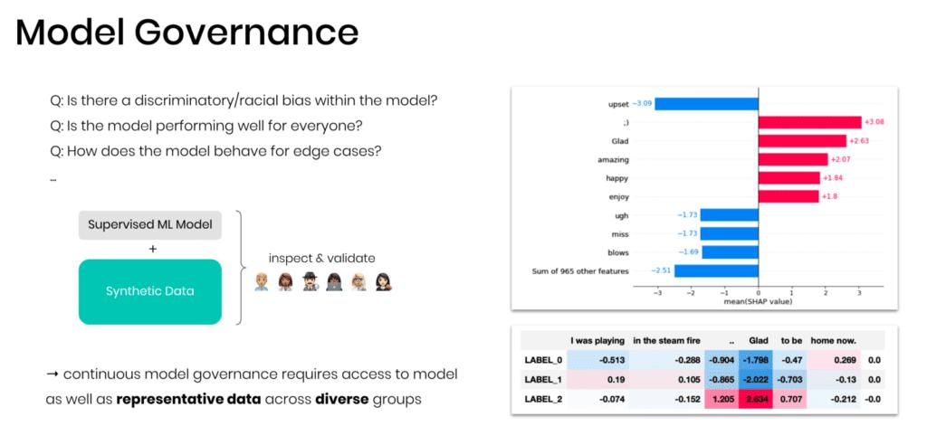Synthetic data for model governance